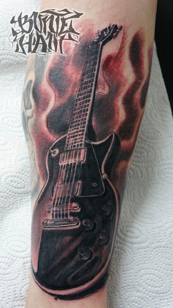 60 Tatuagens Inspiradas Da Guitarra Tatuagens Hd