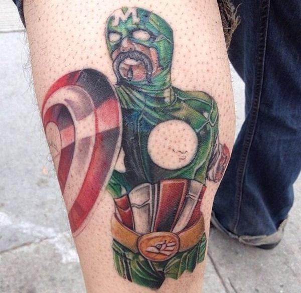 35 Desenhos De Tatuagem De Capitão América Animados