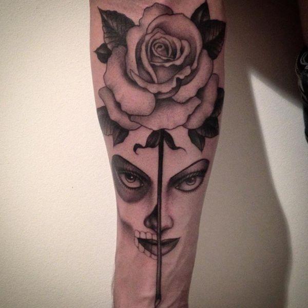 Desenhos De Tatuagem De Rosa Com Significados 30 Ideias