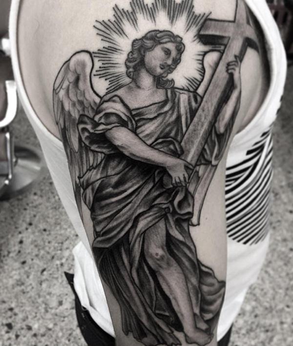75 Melhores Desenhos De Tatuagem De Anjo Que Vai Fazer Você