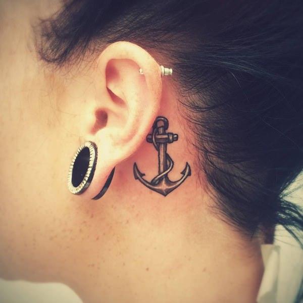 46 Bem Atrás Das Tatuagens De Orelha Que Lhe Agradarão
