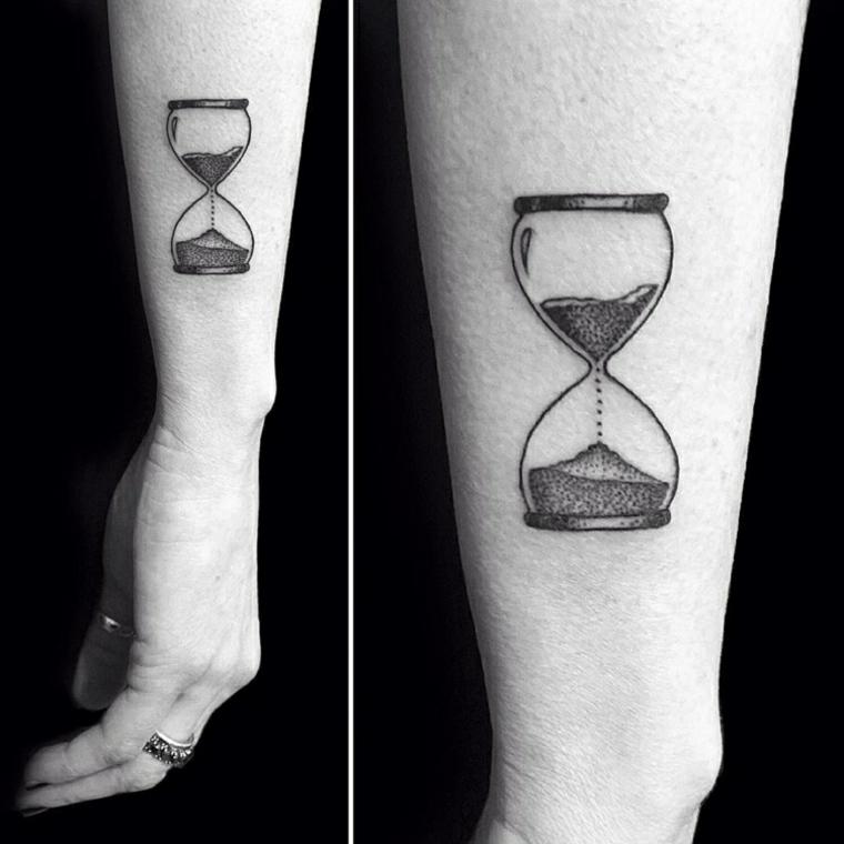 Tatuagem De Ampulheta Ideias Para Congelar O Tempo Tatuagens Hd