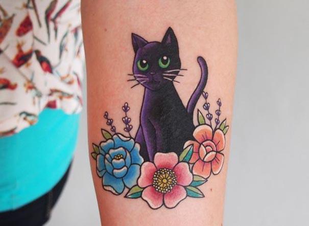 tatuagens de gato preto mágico tatuagens hd