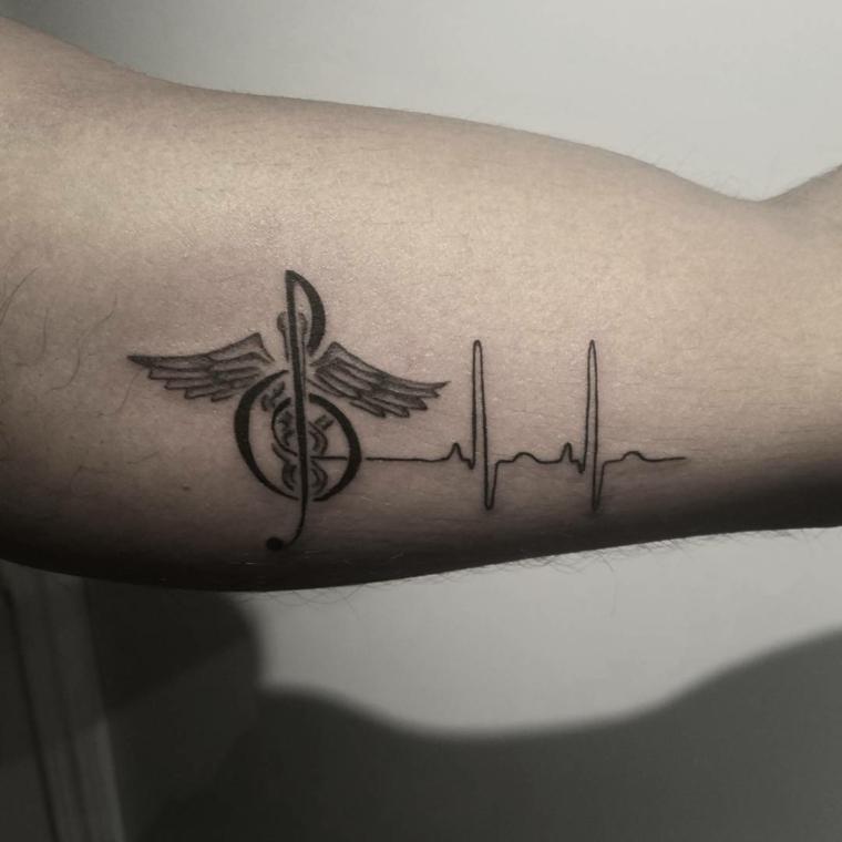 Fotos De Tatuagens De Batimentos Cardíacos Com Mais De 70